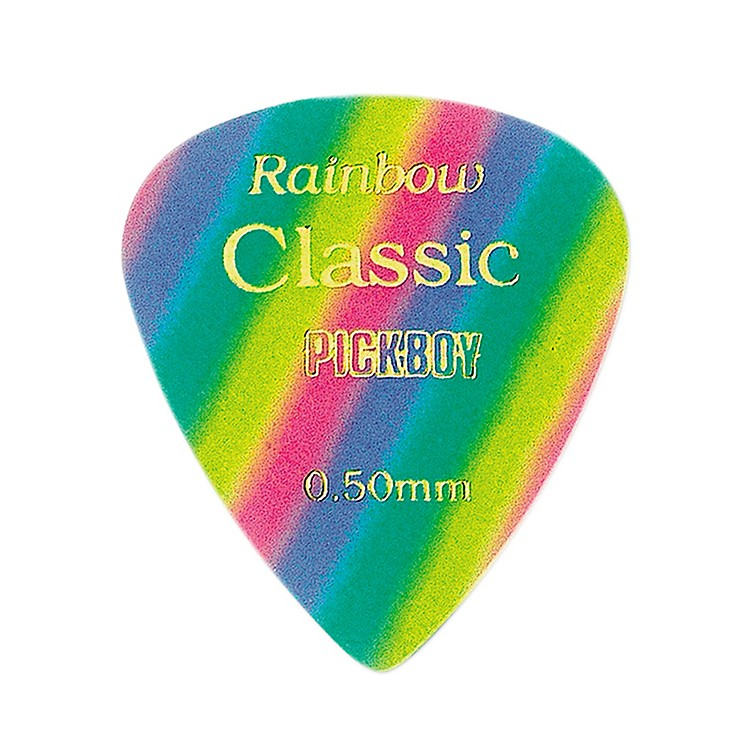 Pick Boy Vintage Pick Celluloid Rainbow (10-pack) .50 mm