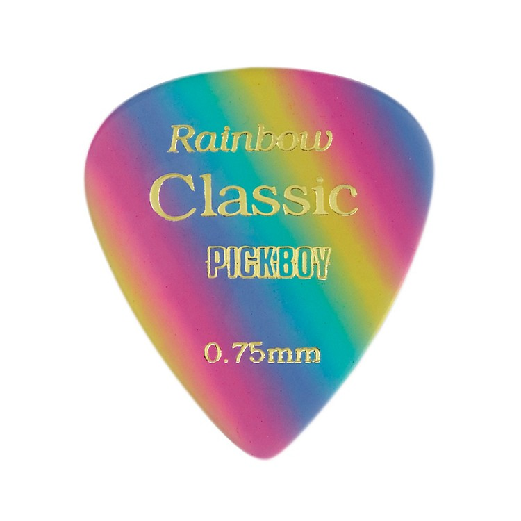 Pick Boy Vintage Pick Celluloid Rainbow (10-pack) .75 mm