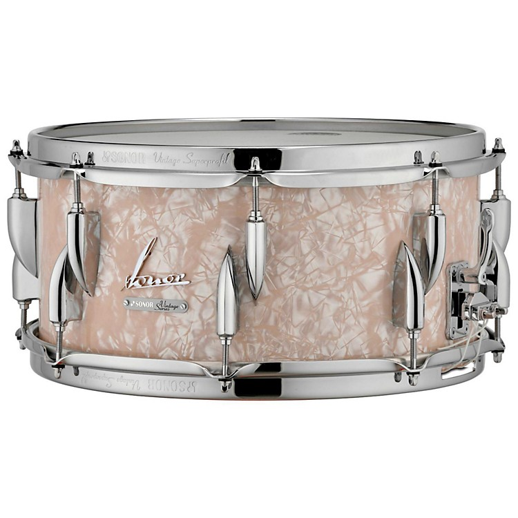 SonorVintage Series Snare Drum 14x5.75 in.14 x 5.75 in.Vintage Red Oyster