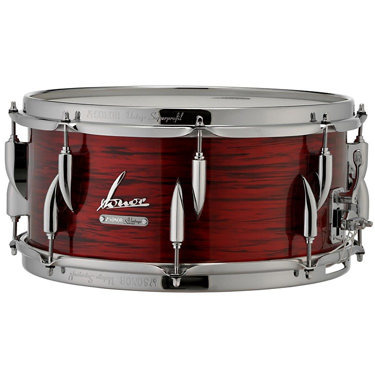 SonorVintage Series Snare Drum 14x6.5 in.14 x 6.5 in.Vintage Red Oyster
