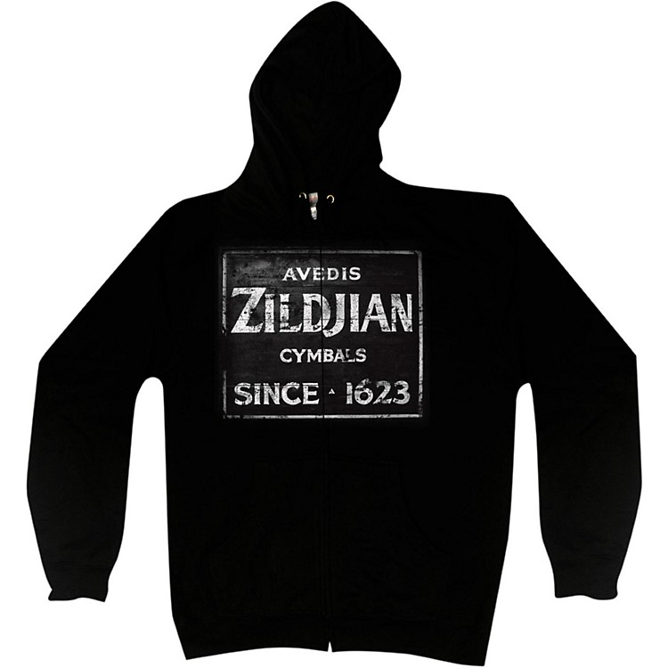 Zildjian Vintage Sign Zip Hoodie Black Medium