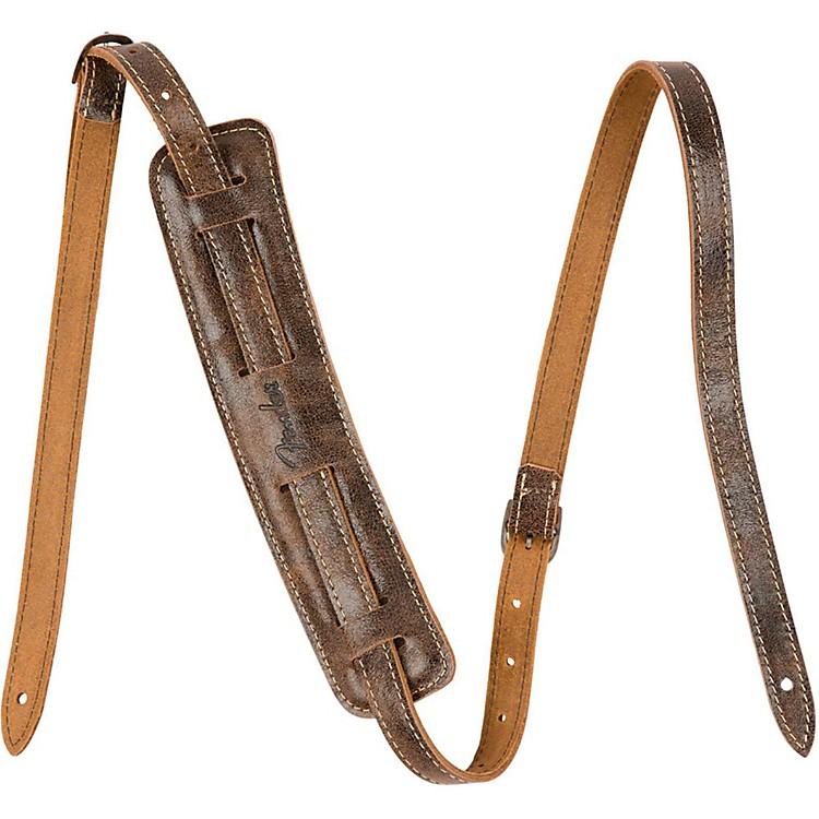 FenderVintage-Style Distressed Leather StrapBlack