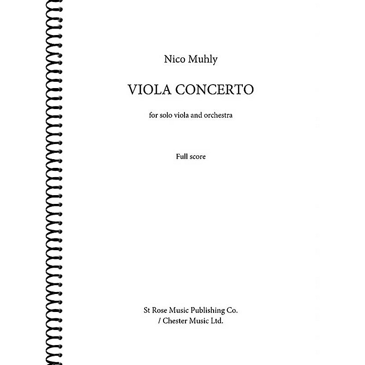 St. Rose Music Publishing Co.Viola Concerto (for Viola and Orchestra (Full Score)) Music Sales America Series Softcover by Nico Muhly