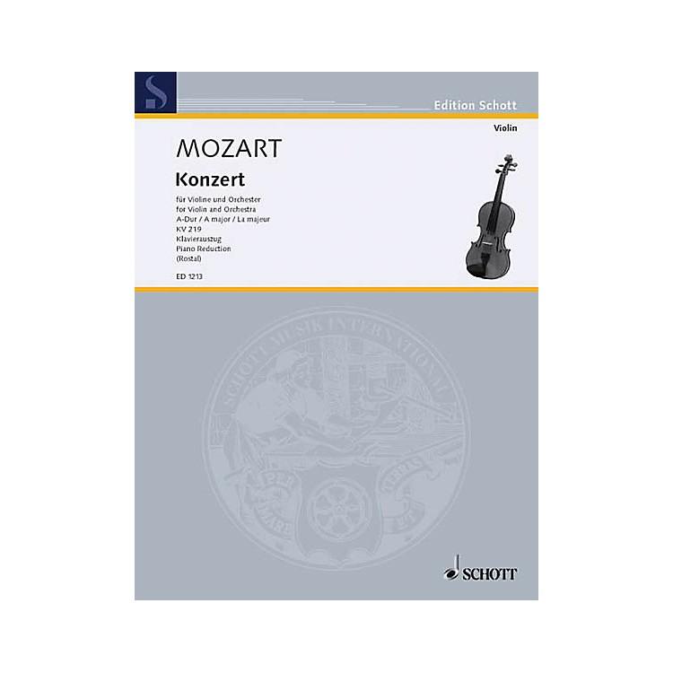 SchottViolin Concerto 5 A Major K. 219 Schott Series