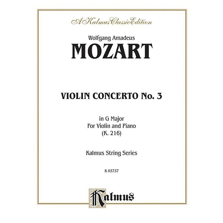 AlfredViolin Concerto No. 3 in G Major K. 216 for Violin By Wolfgang Amadeus Mozart Book