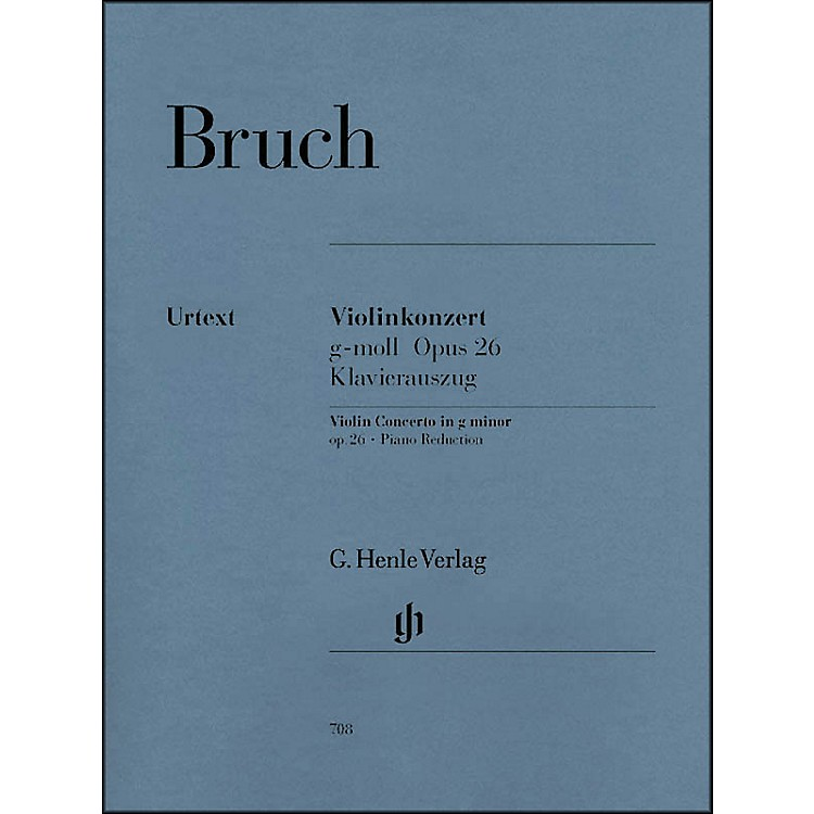 G. Henle Verlag Violin Concerto in G Minor Op. 26 By Bruch