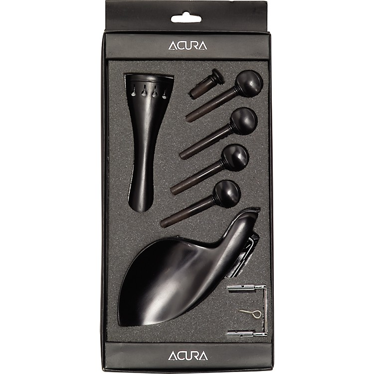 Acura Violin Pegs, Tailpce, Endbutton, Chinrest Set