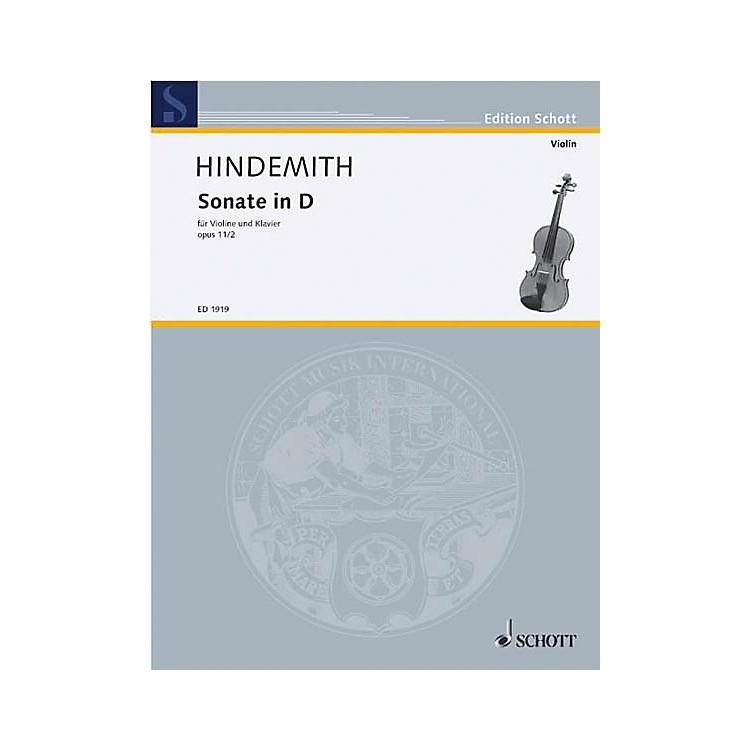 SchottViolin Sonata D Major, Op. 11, No. 2 Schott Series
