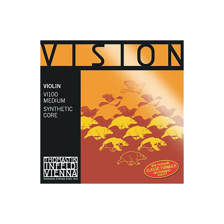 Thomastik Vision 4/4 Violin Strings Medium E, Medium 3/4 Size