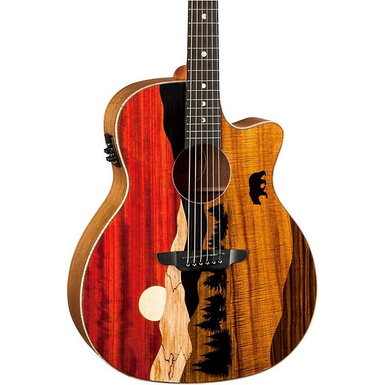 Luna GuitarsVista Bear Acoustic-Electric GuitarGloss Natural