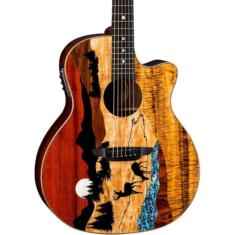 Luna GuitarsVista Deer Tropical Wood Acoustic-Electric GuitarNatural