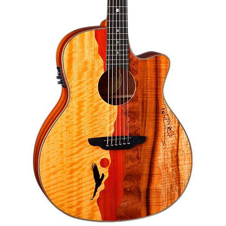 Luna GuitarsVista Eagle Koa Back and Sides Acoustic-Electric Guitar