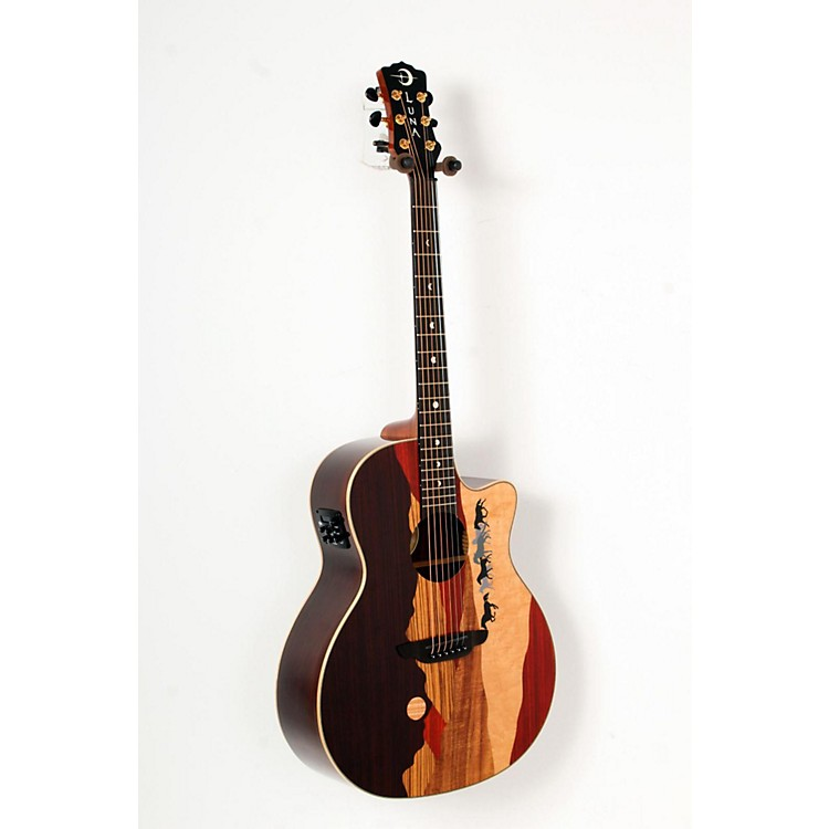 Luna GuitarsVista Mustang Rosewood Back and Sides Acoustic-Electric Guitar888365795201