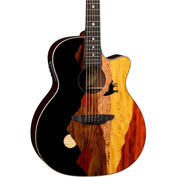 Luna GuitarsVista Wolf Acoustic-Electric GuitarNatural