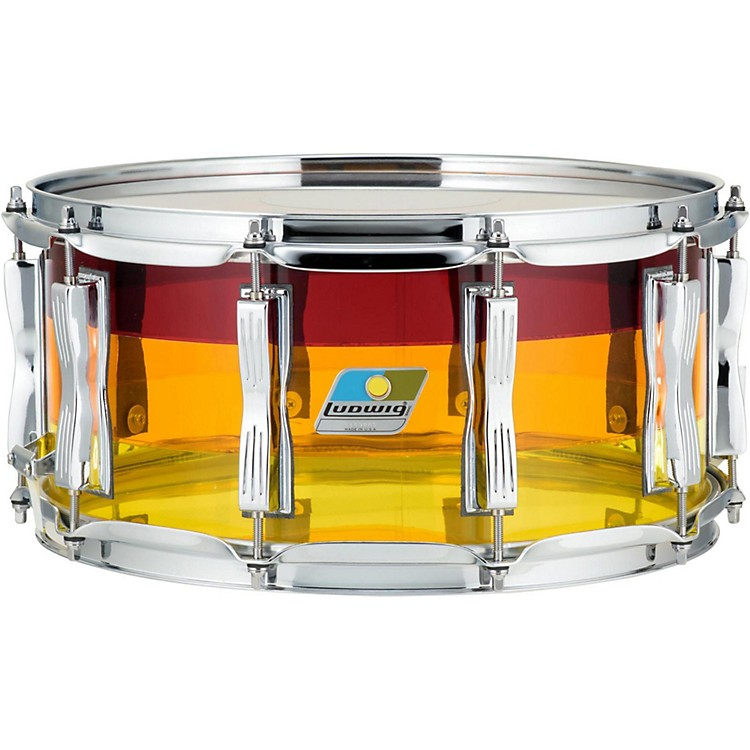Ludwig Vistalite Tequila Sunrise Snare Drum 14 x 6.5 in.