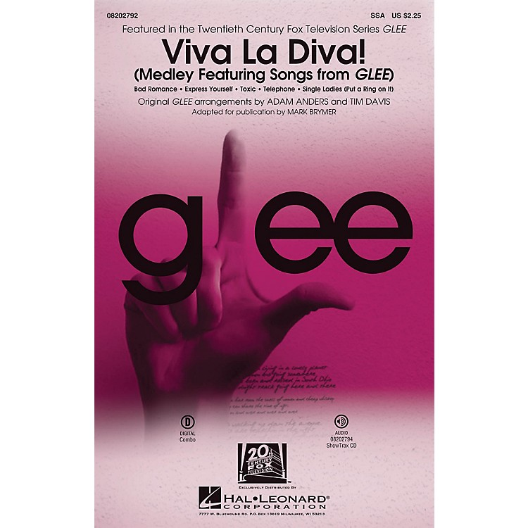 Hal LeonardViva La Diva! (Medley Featuring Songs from Glee) ShowTrax CD by Glee Cast Arranged by Adam Anders