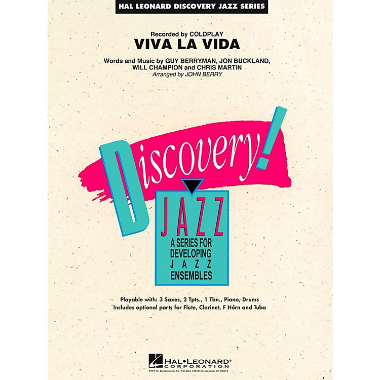 Hal Leonard Viva La Vida Jazz Band Level 1.5