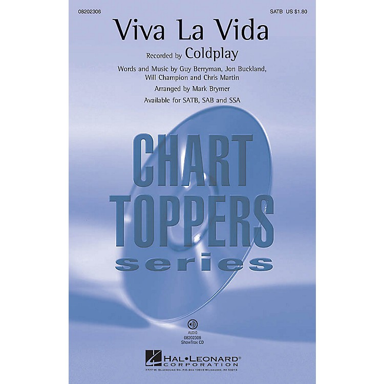 Hal LeonardViva La Vida SSA by Coldplay Arranged by Mark Brymer