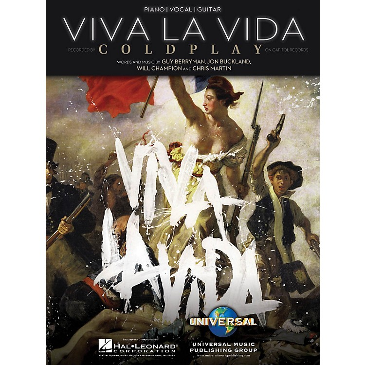 Hal LeonardViva La Vida by Coldplay Arranged for Piano, Vocal and Guitar