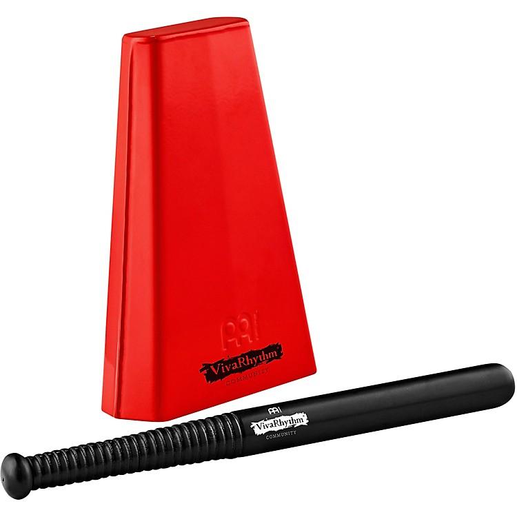 MeinlVivaRhythm Red Handheld Cowbell with Beater