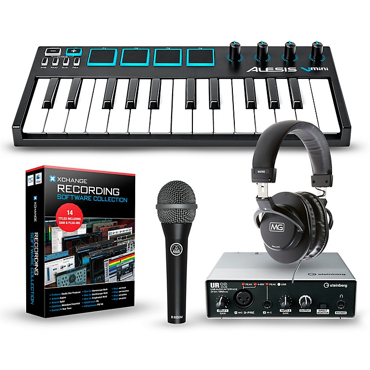 Alesis Vmini Portable 25-Key USB-MIDI Keyboard Controller Packages  Mobile Recording Package