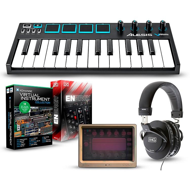 AlesisVmini Portable 25-Key USB-MIDI Keyboard Controller PackagesMobile Virtual Instrument Package