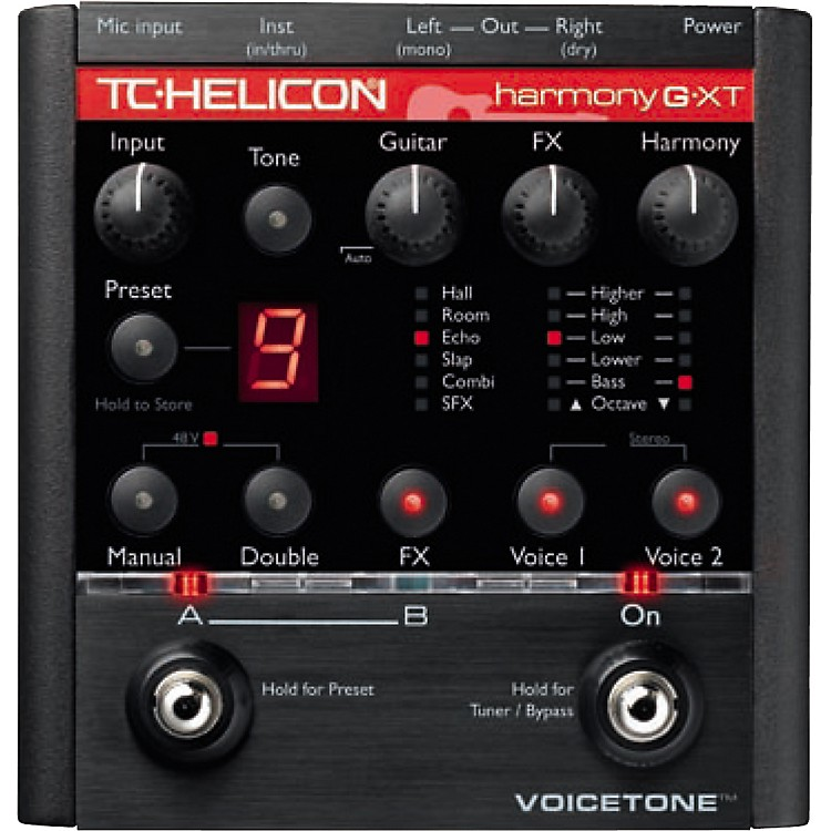 TC Helicon VoiceTone Harmony G-XT Vocal Harmony and Effects Pedal for Guitarists  888365917191
