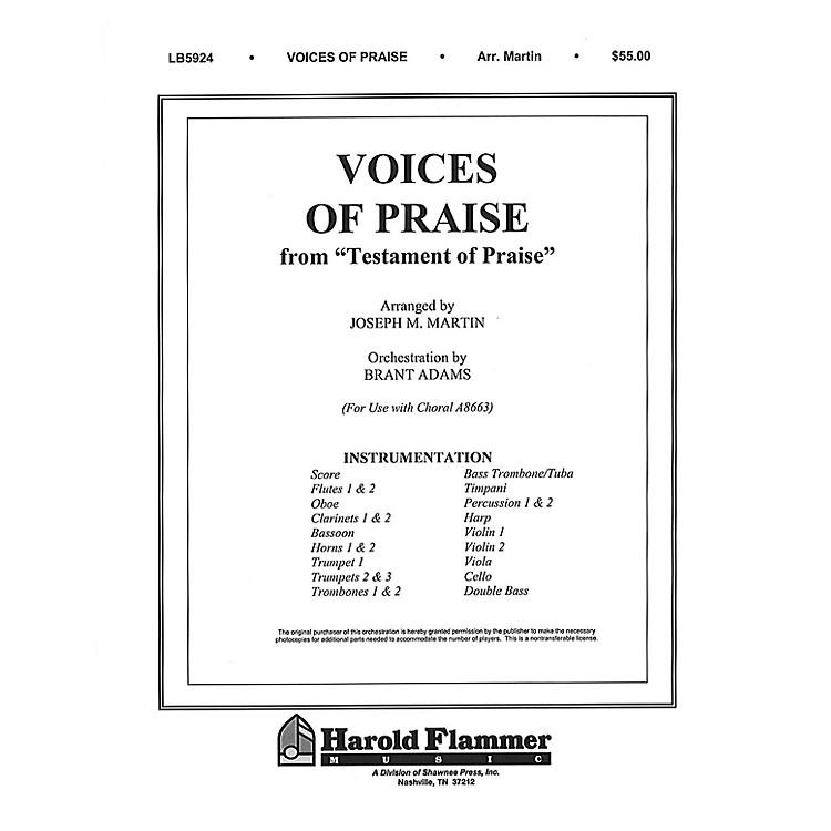 Shawnee PressVoices of Praise (from Testament of Praise) Score & Parts arranged by Joseph M. Martin