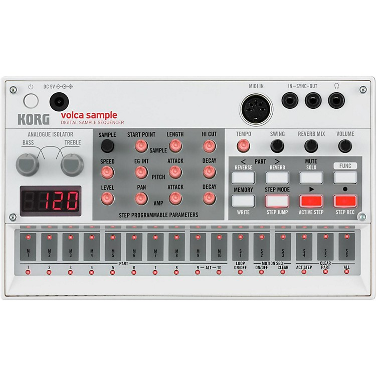 Korg Volca Sample Digital Sample Sequencer White