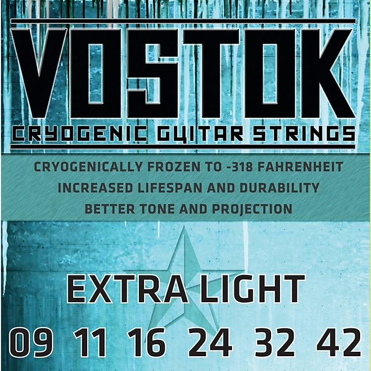EverlyVostok 9709 Cryogenic Extra Light Gauge Electric Guitar Strings
