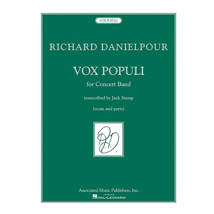 AssociatedVox Populi (Voice of the People) Concert Band Level 5 by Richard Danielpour Arranged by Jack Stamp