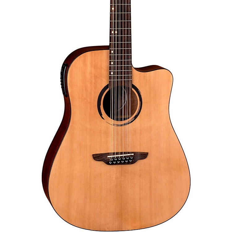 Luna Guitars WABI DC 12 Sabi 12-String Dreadnought Acoustic-Electric Guitar Natural