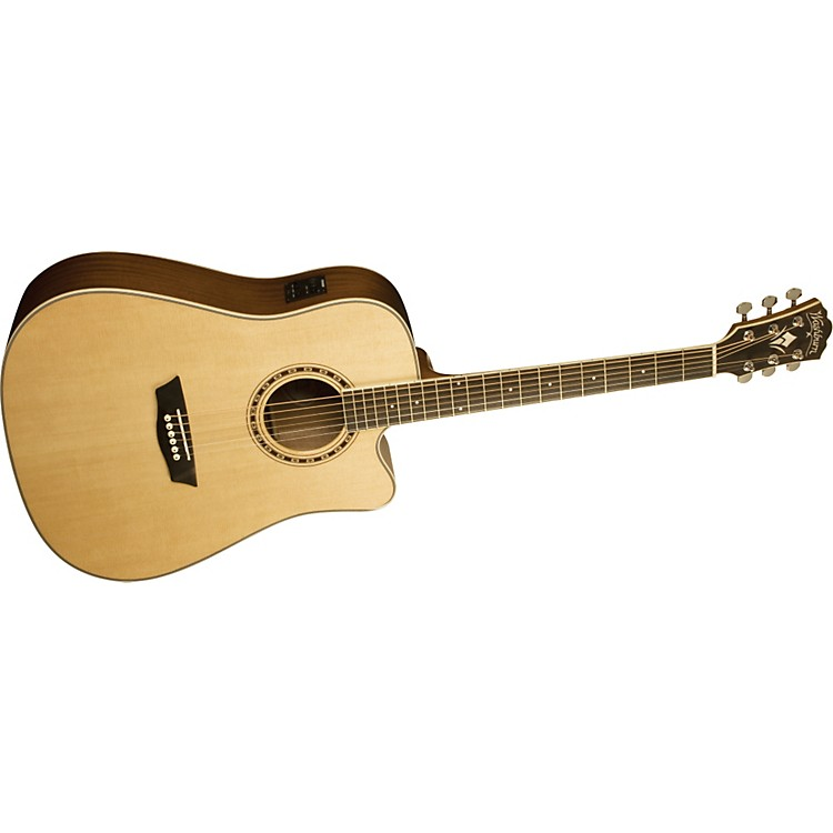 Washburn WD 10CE Dreadnought Acoustic-Electric Guitar Natural