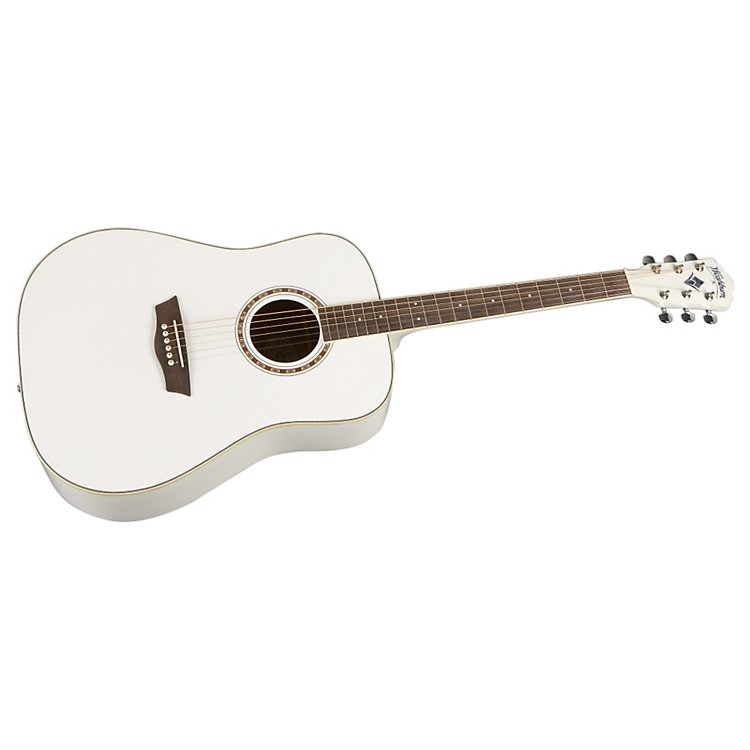 Washburn WD 10S Dreadnought Acoustic Guitar White