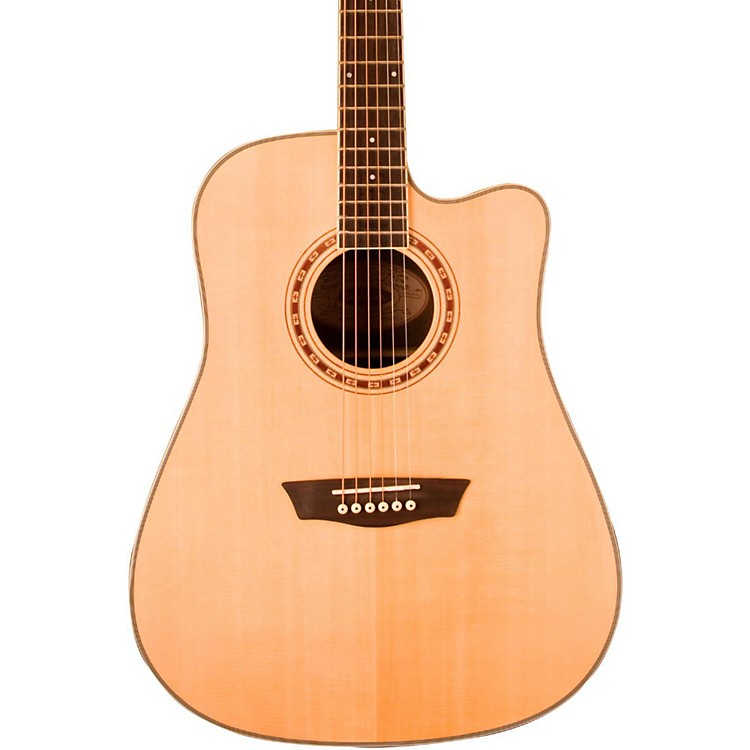 WashburnWD 20SCE Cutaway Dreadnought Acoustic-Electric Guitar