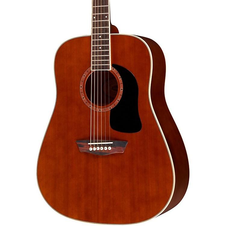 WashburnWD100DL Dreadnought Mahogany Acoustic GuitarNatural