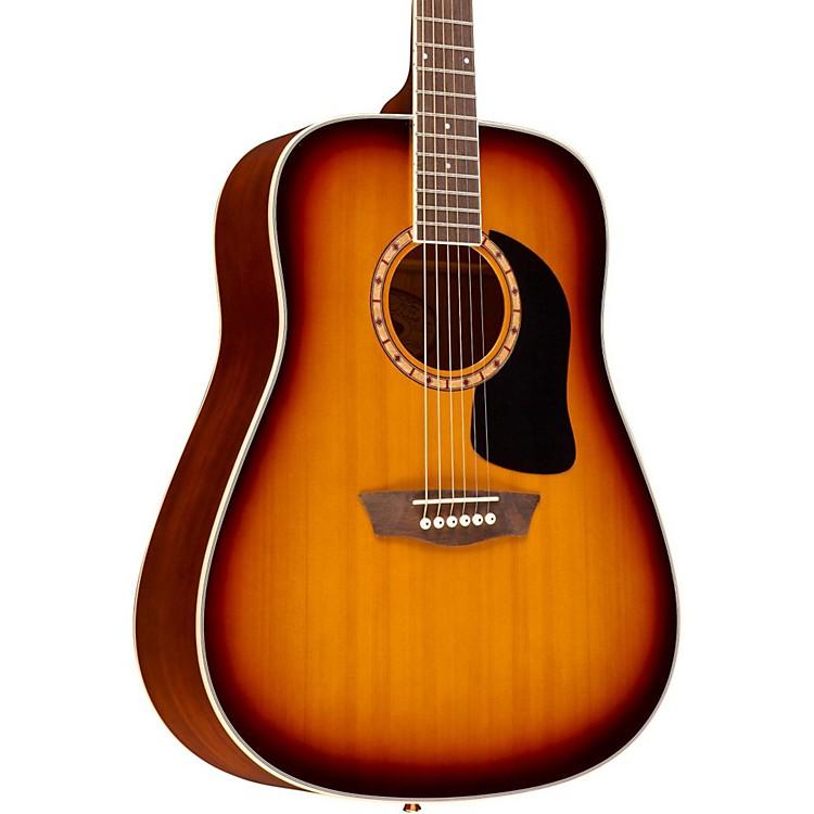 WashburnWD110DL Dreadnought Acoustic Guitar3-Color Burst