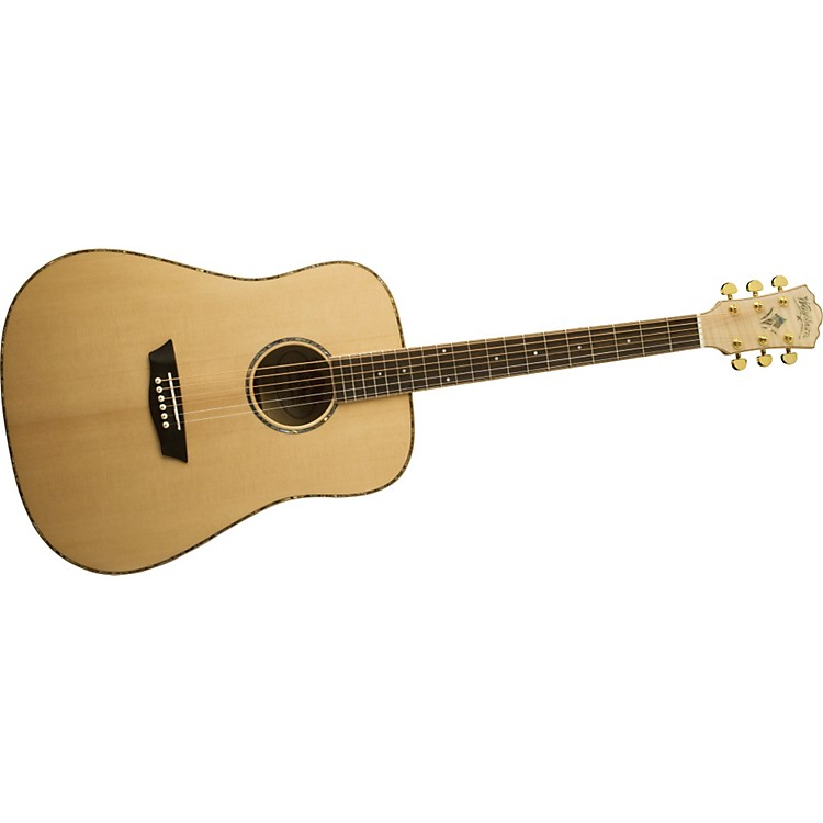 WashburnWD45S Solid Sitka Spruce Top Acoustic Dreadnought Flame Maple Guitar