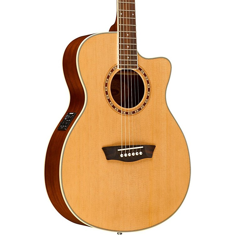 Washburn WF19CE Spruce Folk Acoustic-Electric Guitar Natural