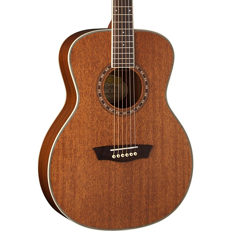 WashburnWF19S Mahogany Solid Top Folk Acoustic GuitarNatural