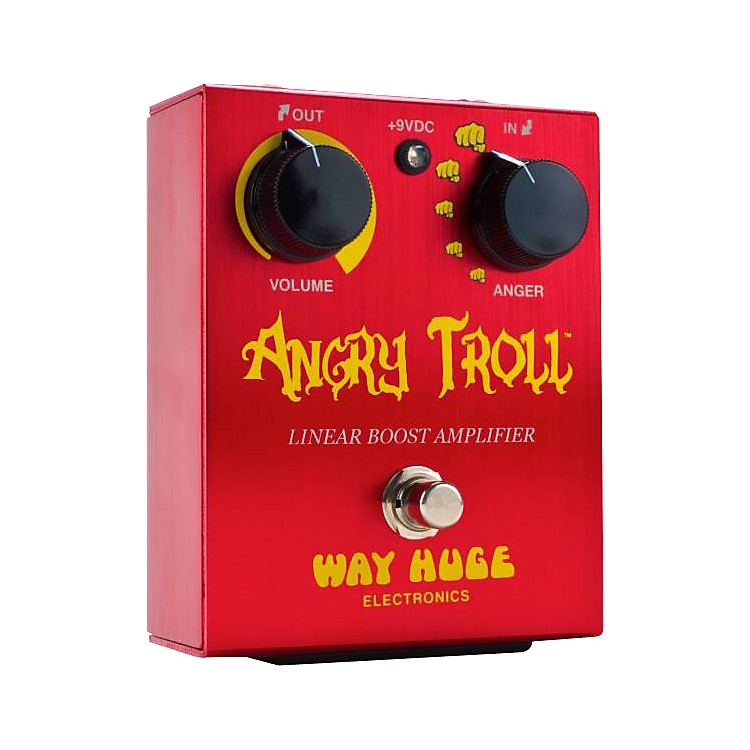 Way Huge ElectronicsWHE101 Angry Troll Boost Guitar Effects PedalRed