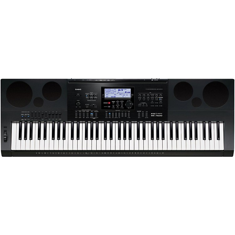 casio wk 7600 76 key portable keyboard music123. Black Bedroom Furniture Sets. Home Design Ideas