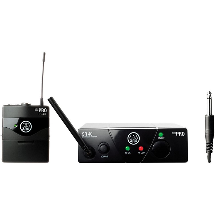 AKGWMS 40 Mini Instrument Wireless System Ch A with D8000M Handheld