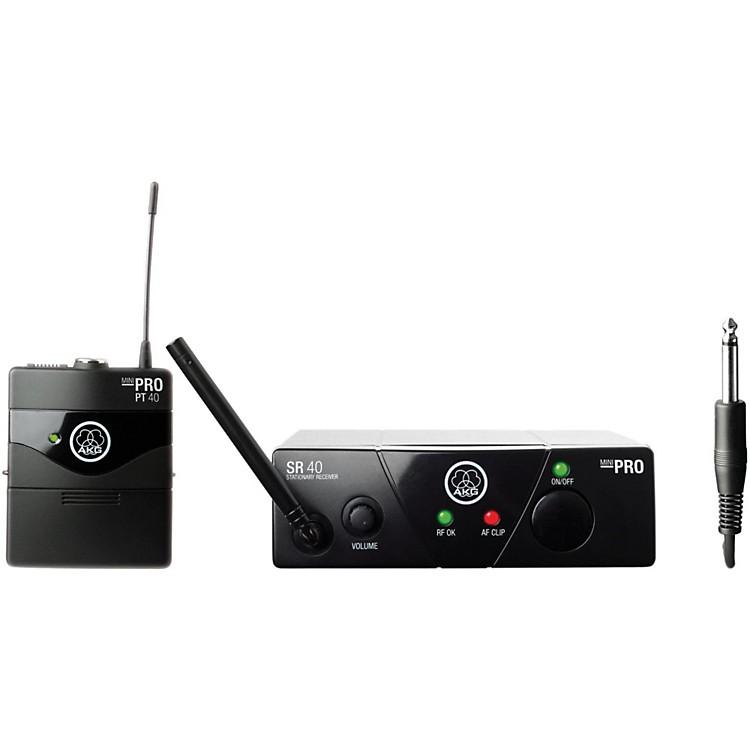 AKGWMS 40 Mini Instrument Wireless System Ch B with D8000M Handheld
