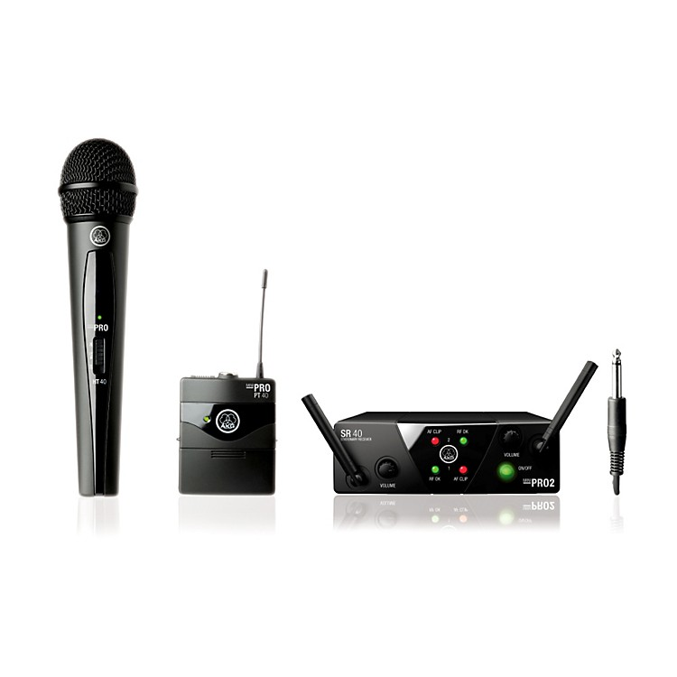 AKGWMS 40 Mini2 Vocal/Instrument Wireless Microphone Set