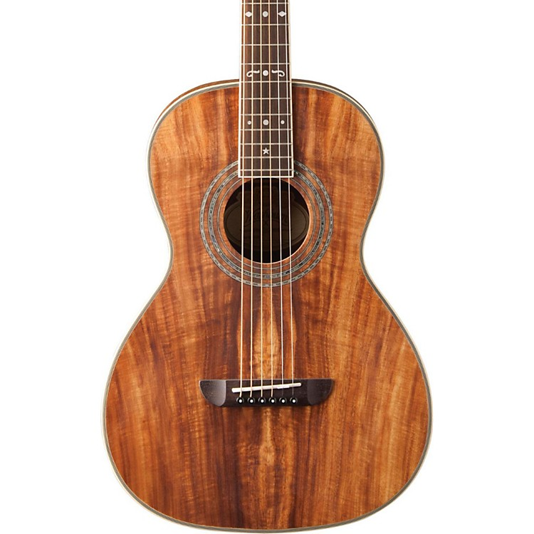 Washburn WP55 Parlor Koa Acoustic Guitar Satin Natural