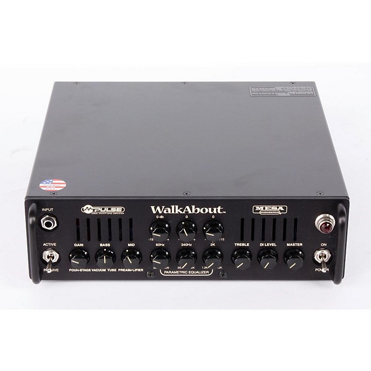 Mesa Boogie WalkAbout 300W Bass Amp Head Black 888365025940
