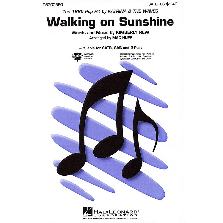 Hal LeonardWalking on Sunshine ShowTrax CD by Katrina & The Waves Arranged by Mac Huff