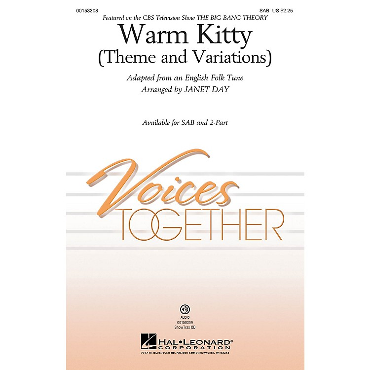 Hal Leonard Warm Kitty (Theme and Variations) 2-Part Arranged by Janet Day