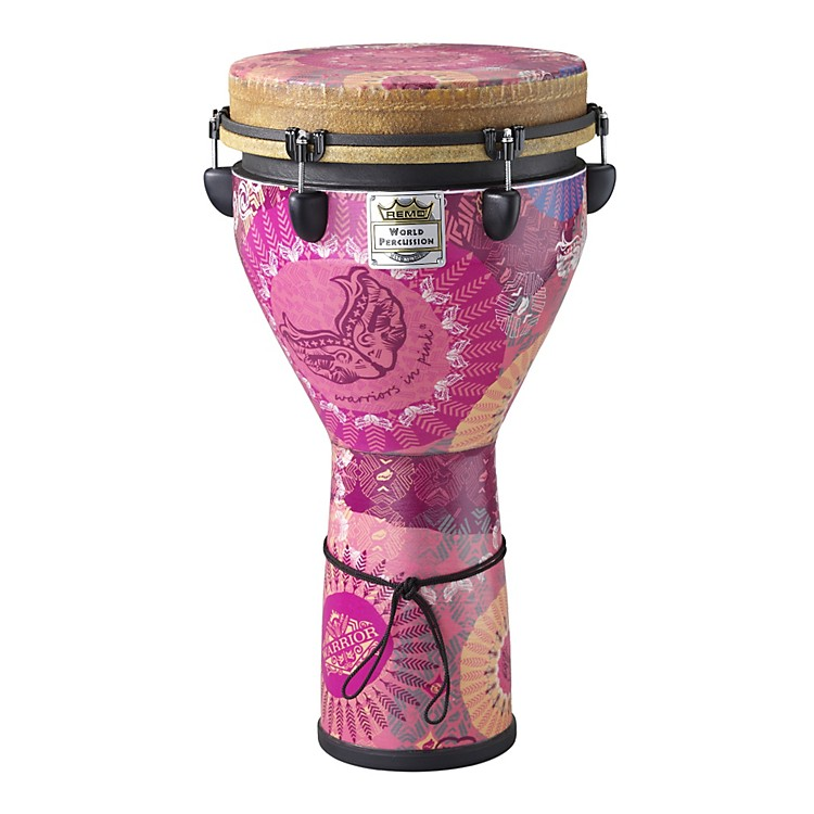 Remo Warriors in Pink Mondo Designer Series Key-Tuned Djembe